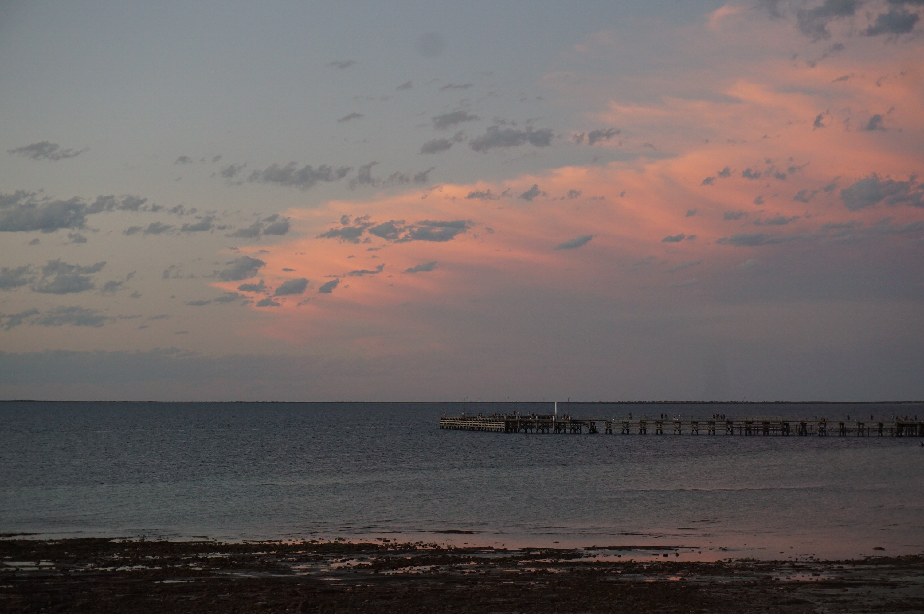 Fairy Floss Skies over the Jetty